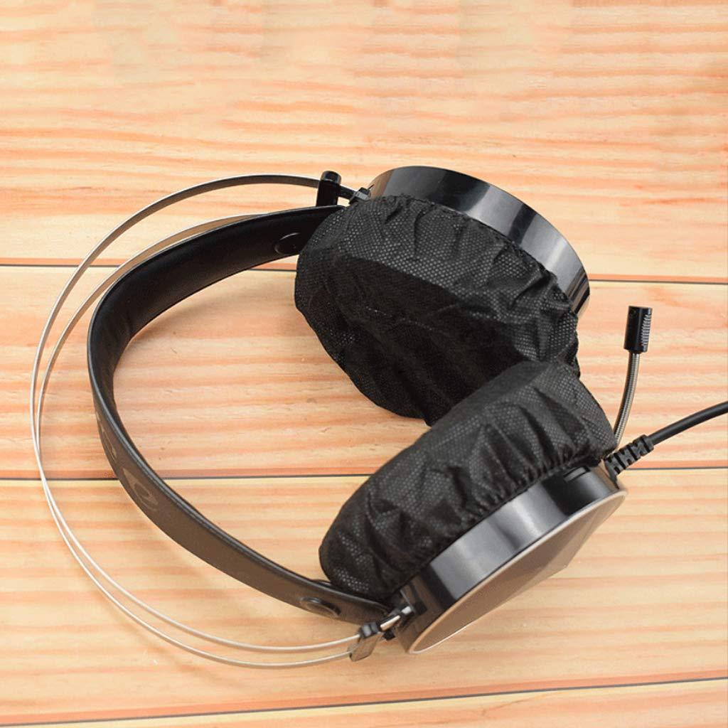 Qiulip 10 a 12 cm no Tejidas Juego de 100 Fundas Desechables para Auriculares
