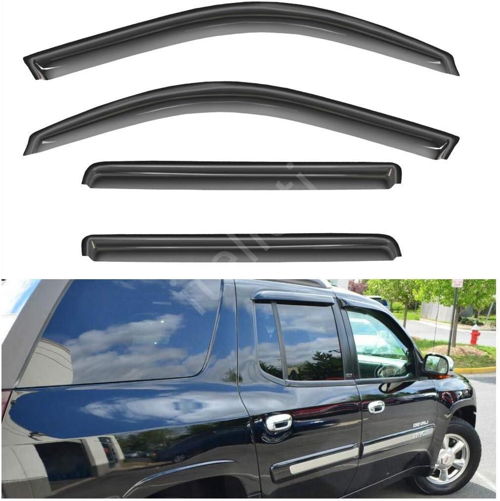 4pcs Smoke Tint Vent Shade Window Visors Fit 02-09 Trailblazer//Envoy 5-Passenger
