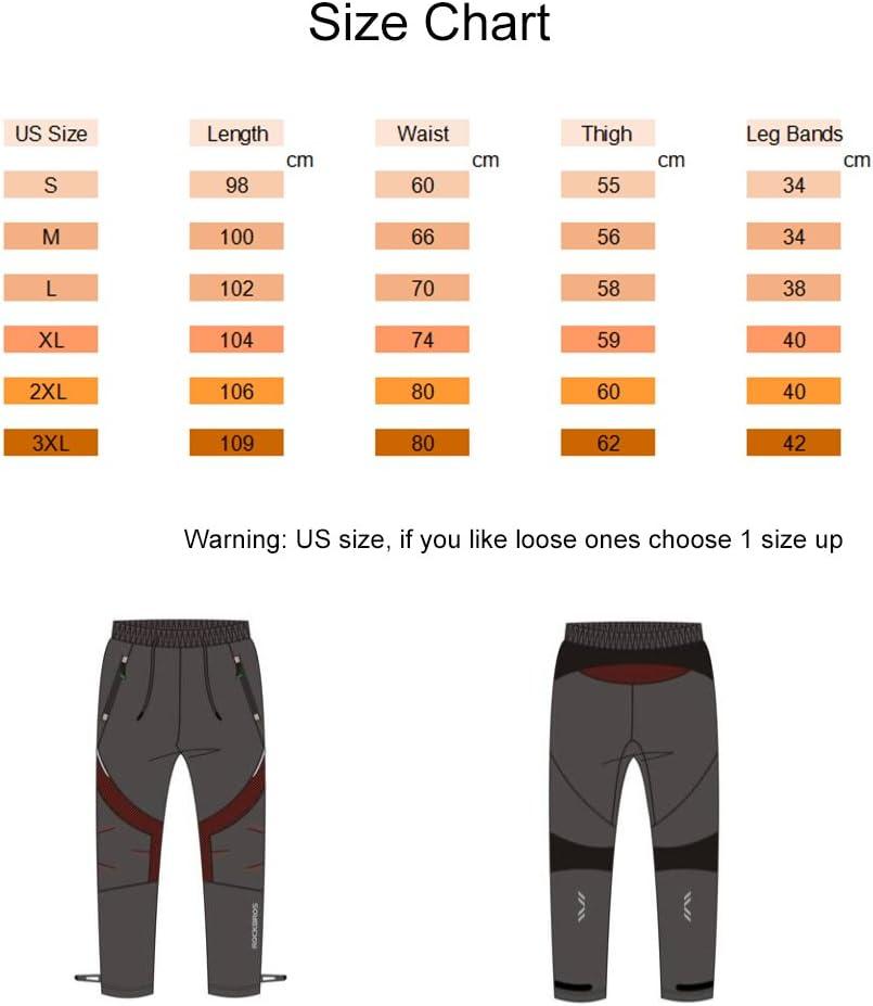 RMane Pantalon de Cyclisme Long en Polaire Coupe-Vent pour Homme