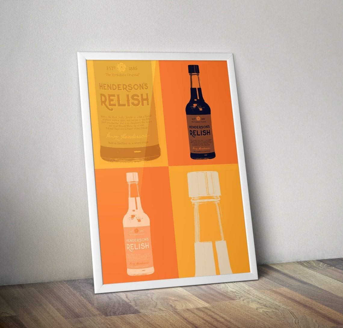Hendos Illustration South Yorkshire Hendersons Relish Art Print Sheffield Sauce Yorkshire Home Decor