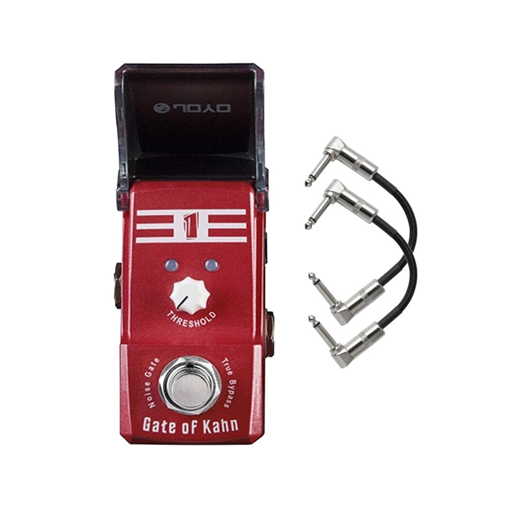 Joyo JF-324 Gate of Kahn (Noise Gate) Ironman Mini Guitar Effects Pedal with Patch Cables by JOYO