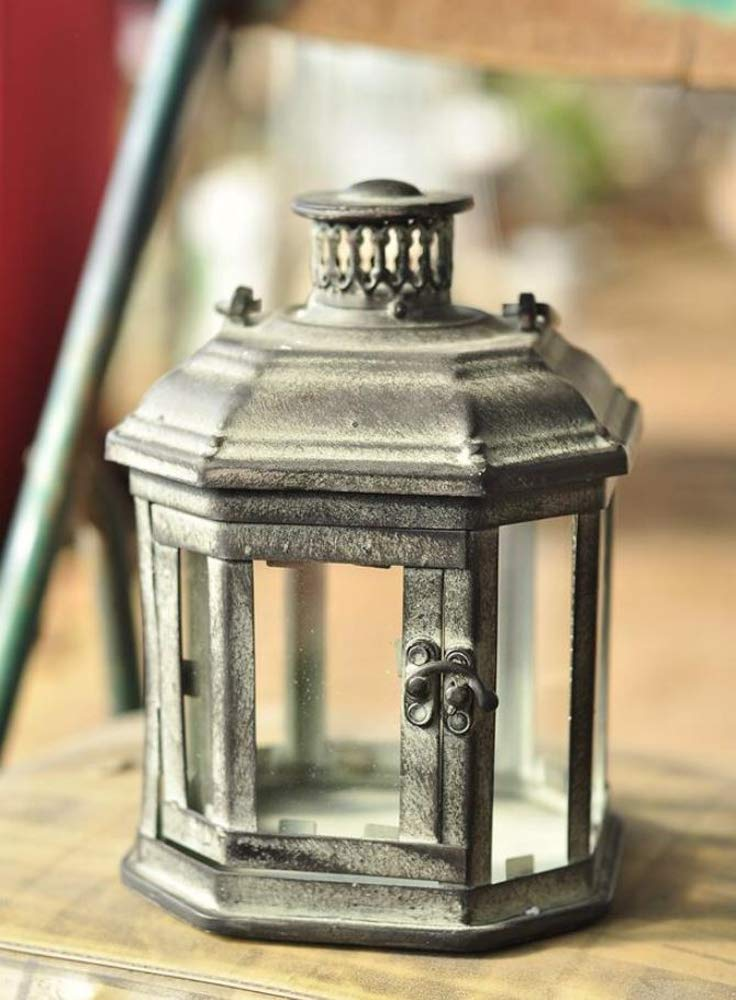PierSurplus Metal Candle Lanterns with Stand - Three-Tier Lantern Stand for Yard Product SKU: CL221880 by PierSurplus (Image #6)