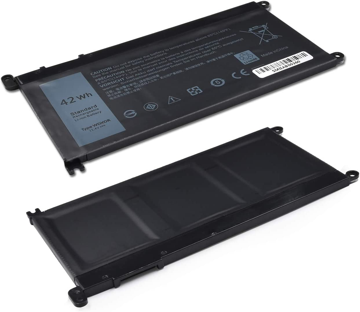 42Wh WDX0R Laptop Battery for DELL Inspiron 13 5368 5378 5379 7368 ...
