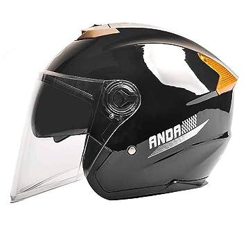 Tnosky Casco de Moto de los Amantes Cara Descubierta Al Aire Libre Ligero Multifunción Protección de