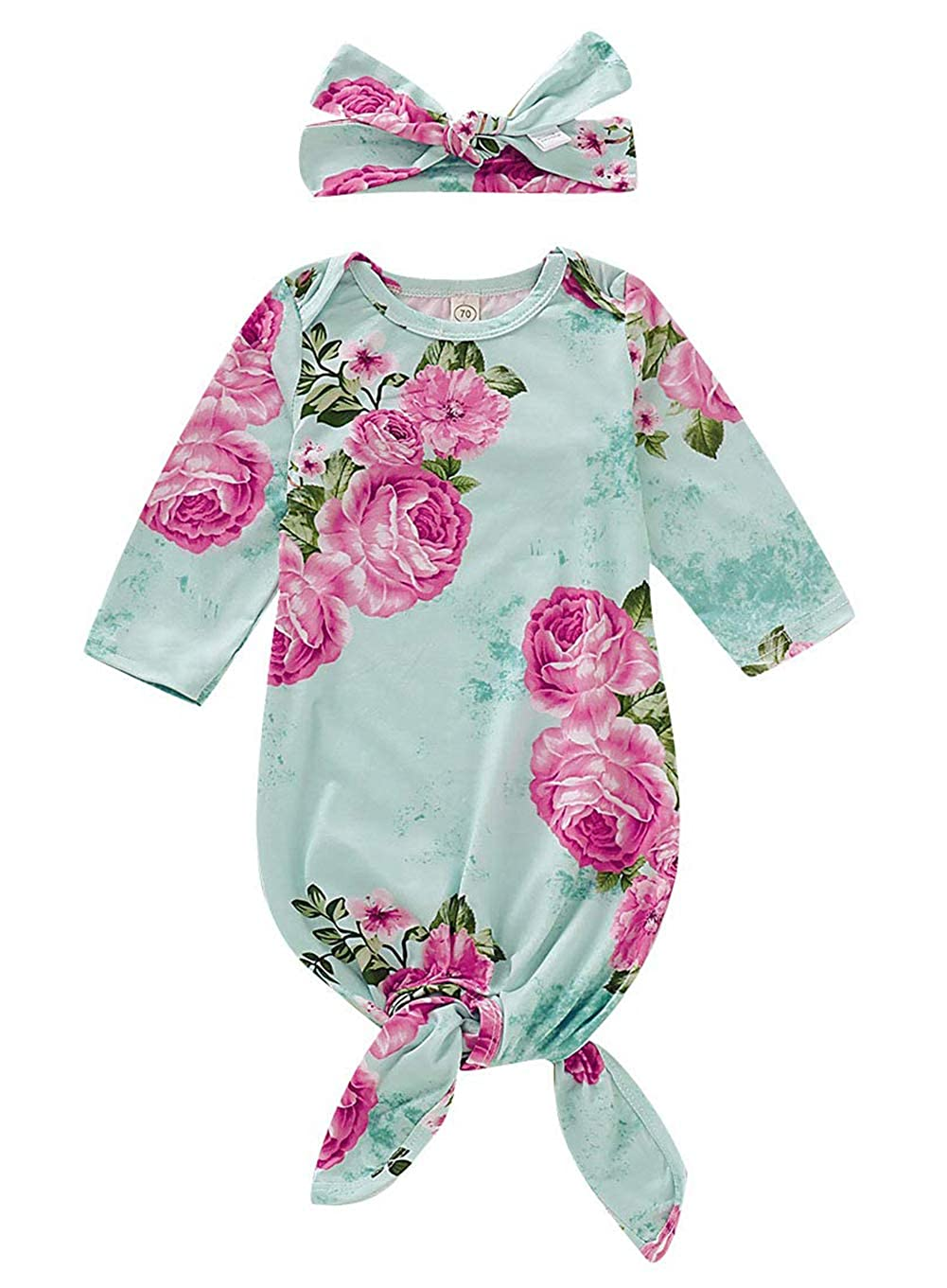 Newborn Baby Floral Sleeping Gown Swaddle Sack Coming Home Sleepwear Romper Sleeping Bags Outfit