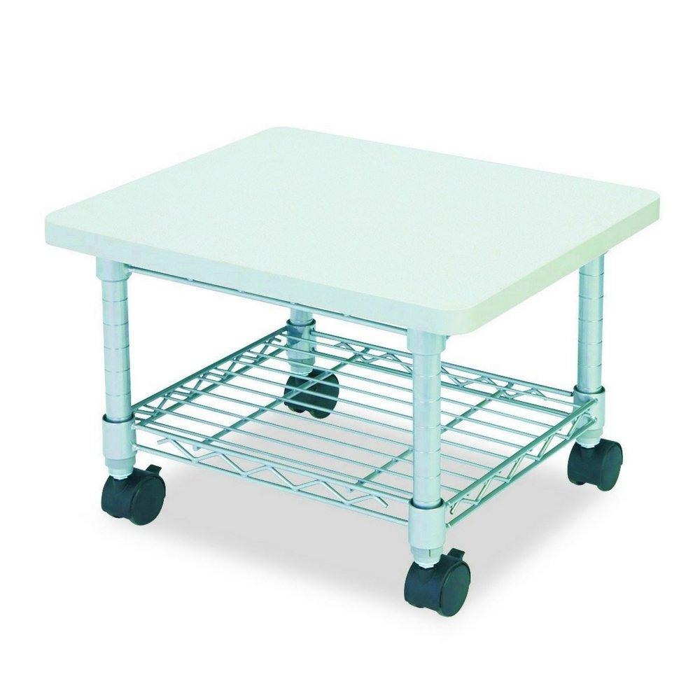 Mobile Printer Stand Under Desk Storage Shelve Portable Scanner Machine Cart Wire Management Office Organizer Functional Contemporary Casters Steel & eBook by BADAshop