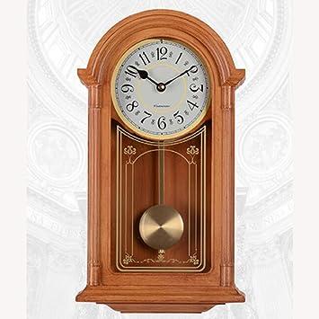 YIWANGO Reloj De Pared Salón Nórdico Retro Reloj Columpio Péndulo Silencioso Salón Reloj Reloj De Pared: Amazon.es: Hogar