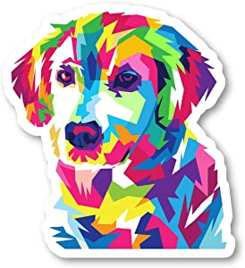 Colorful Dog Sticker Love Dogs Stickers - Laptop Stickers - 2.5 Inches Vinyl Decal - Laptop, Phone, Tablet Vinyl Decal Sticker S214487