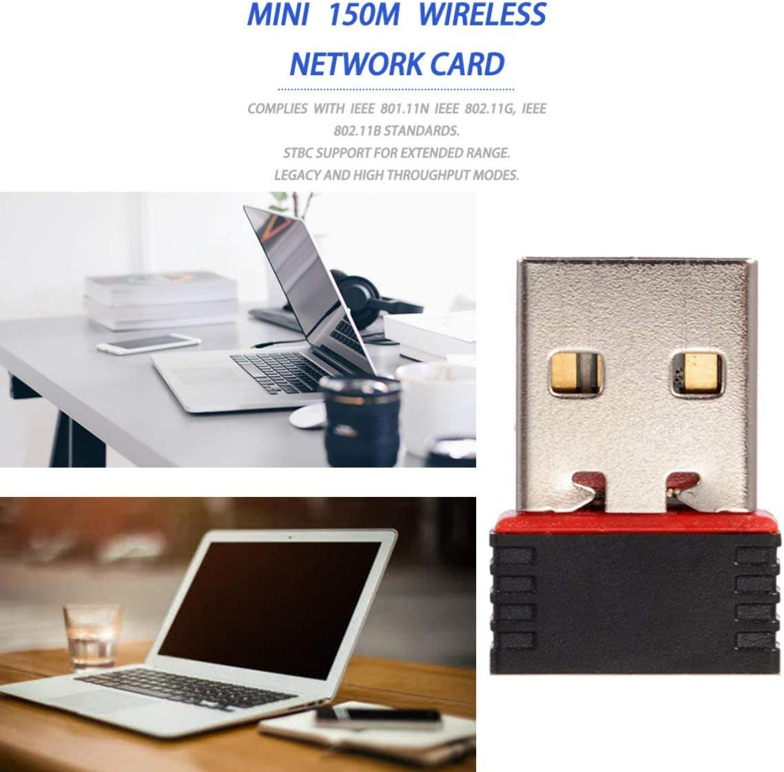 color:red 73JohnPol 150Mbps 150M Mini USB WiFi Wireless Adapter Network LAN Card 802.11n//g//b Portable Mini Pockets USB Wifi Receivers Adapter/&