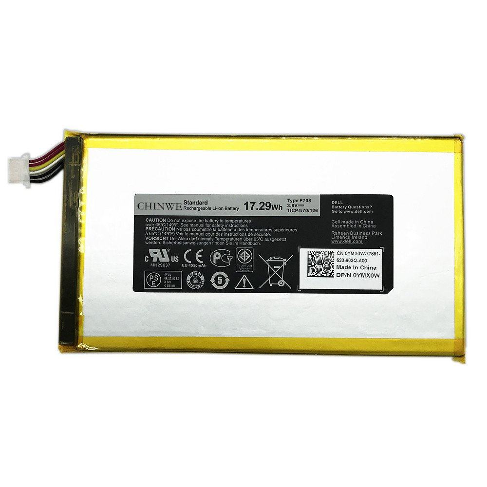 P708 New Laptop Battery For DELL Venue 7 3740 8 3840 0YMXOW Tablet (3.8V 17.29Wh) by CHINWE (Image #2)