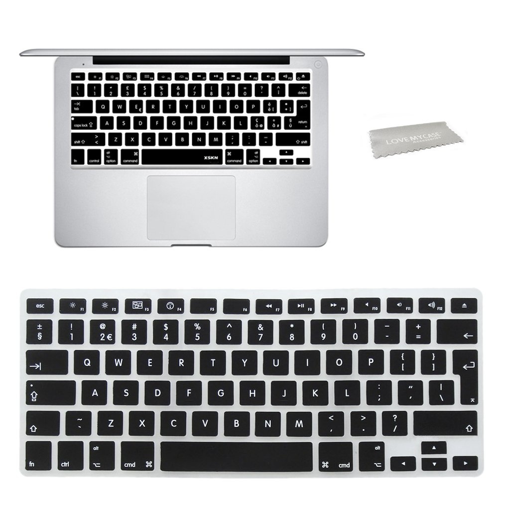 Will NOT fit MacBook Pro Models Love My Case BUNDLE PURPLE Hard Shell Case with CLEAR LCD SCREEN PROTECTOR matching KEYBOARD Skin and NEOPRENE Sleeve Cover for 13-inch Apple MacBook AIR
