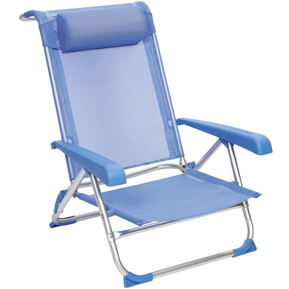 Red Mountain Strand-/ Liegestuhl aus Aluminium, 46x42 cm Sitzflöche ...
