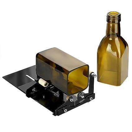 Cortador de botellas, Herramienta para cortar botellas de cristal cuadradas o redondas con accesorios,