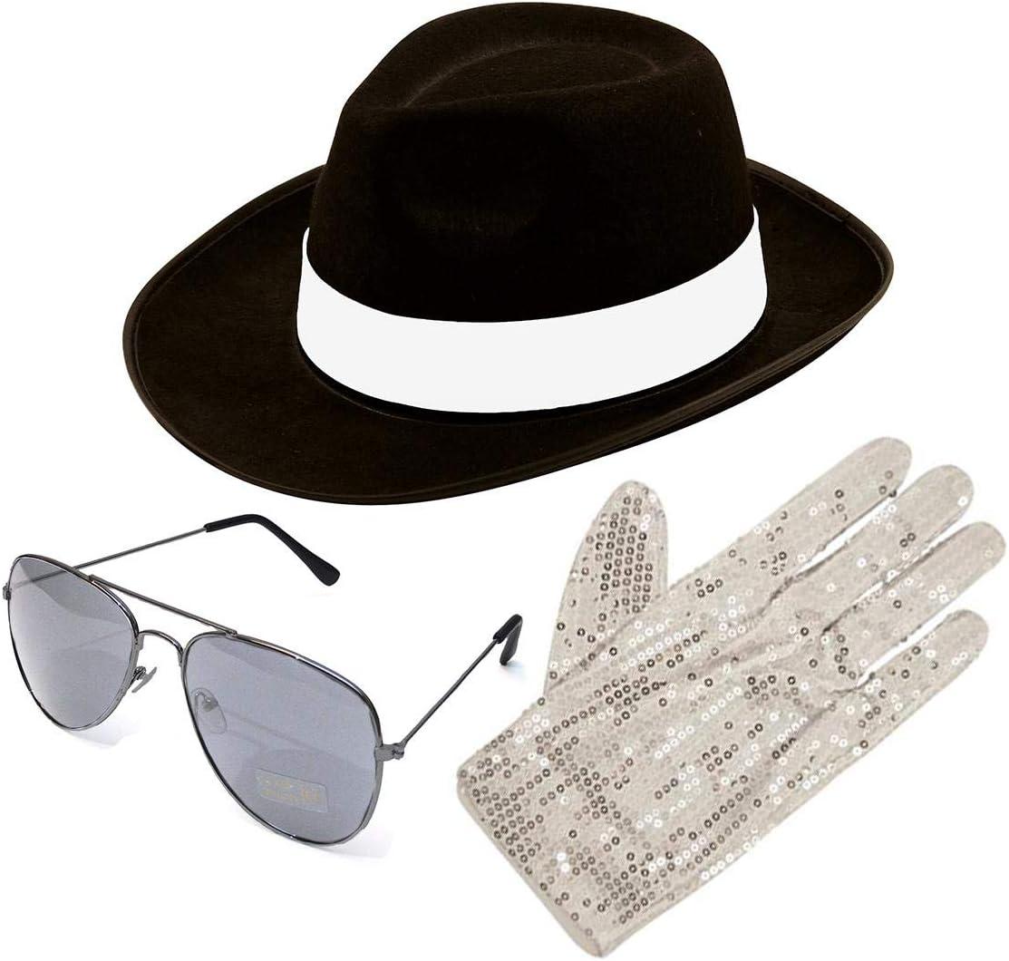 Desconocido Michael Jackson Estilo 3 piezas set sombrero Guante ...