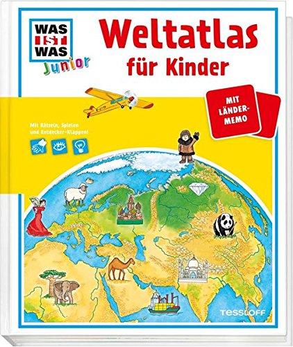 Junior Weltatlas für Kinder: Mit Länder-Memo und Entdecker-Klappen! (WAS IST WAS Junior Edition)