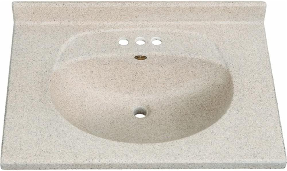 Seamless Fits Most Standard 30 Vanities American Standard 7820.800.020 Newbern Vanity Top with Integral Bowl White