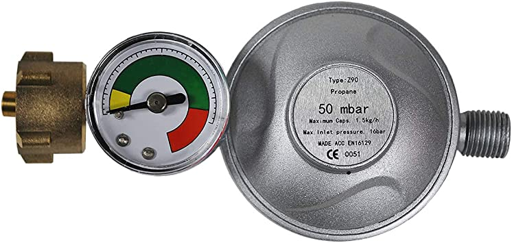 Regulador de presión + manómetro 50 mbar regulador reductor ...