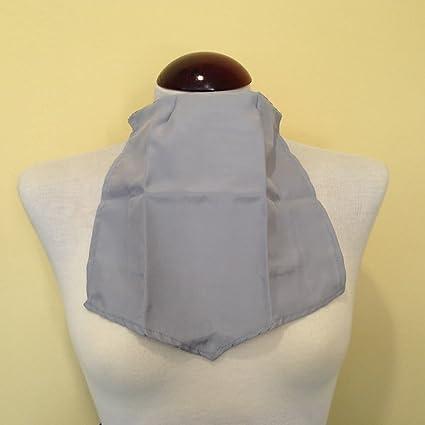 Pañuelo de Traqueotomia Seda Gris-Unidad