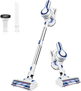 APOSEN Cordless Vacuum Cleaner, Upgraded Powerful Suction 4 in 1 Stick Vacuum Cleaner 35min-Running Detachable Battery, 1.2L Large-Capacity Dust Cup Vacuum Ideal for Hard Floor Pet Hair-H120