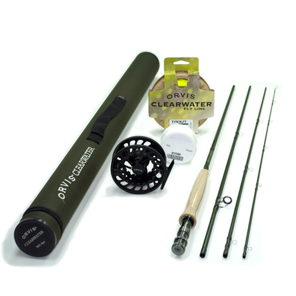 Orvis Clearwater 5 weight 8'6'' Fly Rod Outfit 865-4 by Orvis