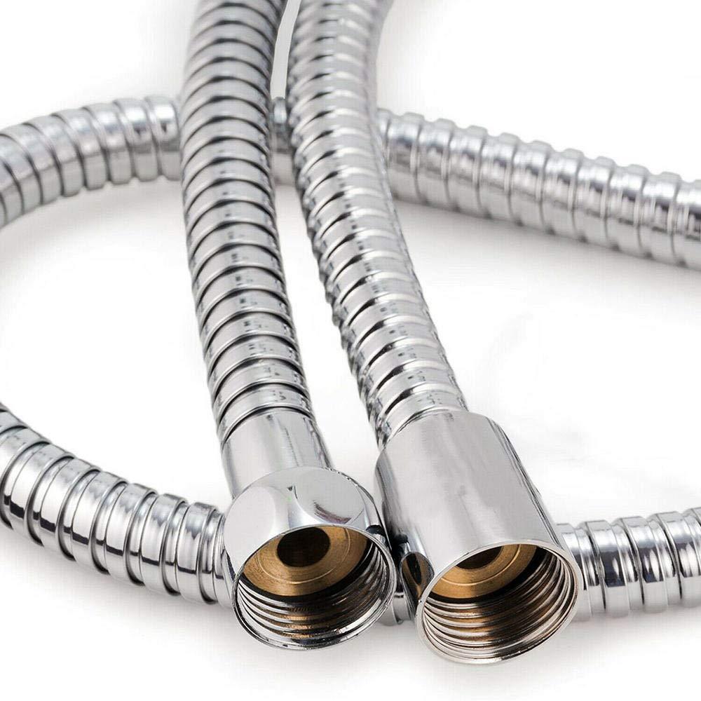 Tubo flessibile flessibile a prova di esplosione per bagno in acciaio inossidabile resistente allacqua Tubo per soffione doccia da 1 m