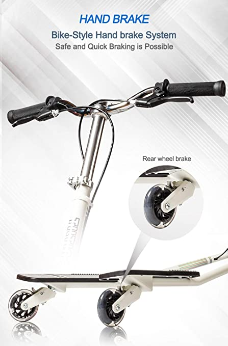 Amazon.com: MSKI Semi Best Patented 3 Wheel Tilting Scooters ...