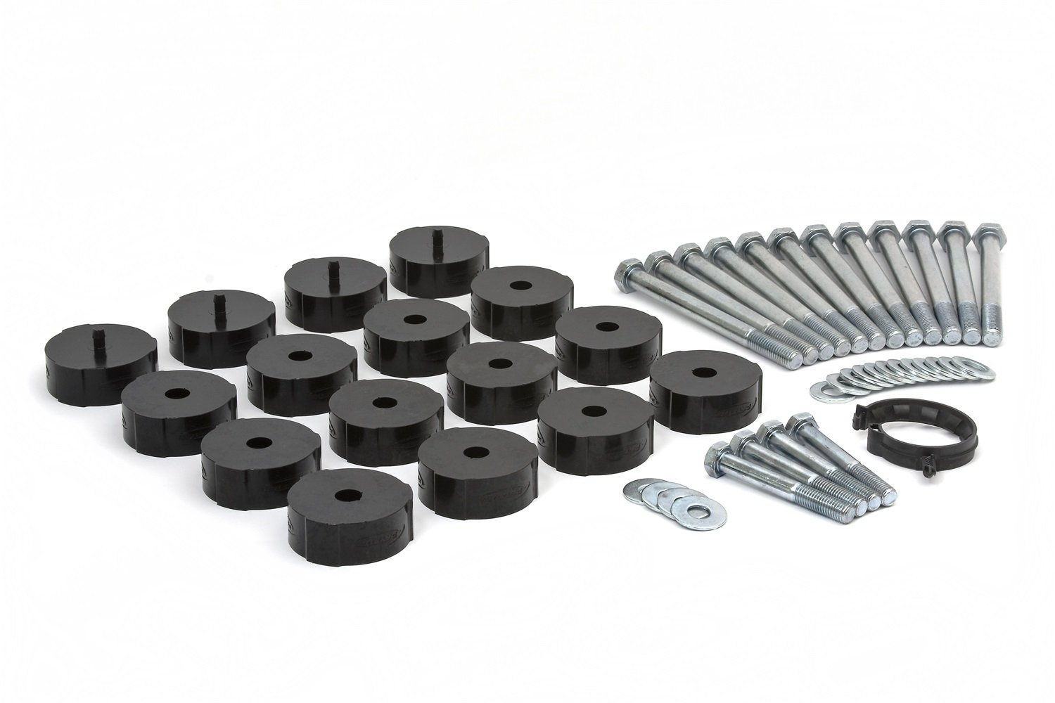 Daystar fits 2004 to 2009 H3 and 2009 to 2010 H3T 2//4WD Hummer H3 1 Taller Polyurethane Body Mount Kit Works with Factory Body Mount Bushings Made in America KG04501BK