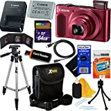 Canon PowerShot SX620 HS 20.2 MP Wi-Fi Digital Camera with 25x Optical Zoom & HD 1080p video (Red) International Version + 12pc 64GB Deluxe Accessory Kit w/ HeroFiber Gentle Cleaning Cloth