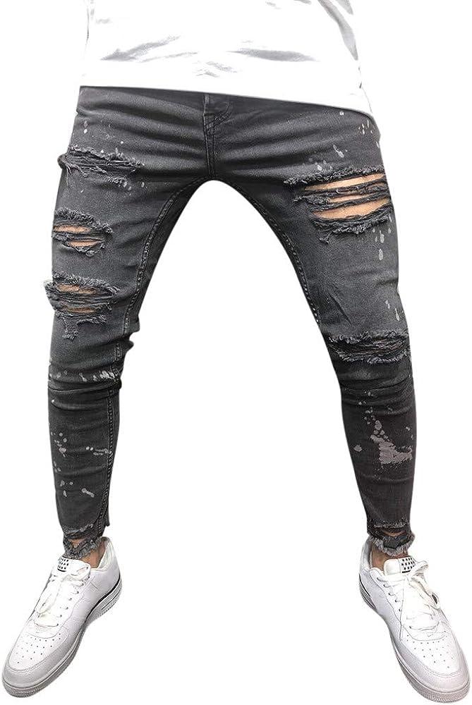 Pantalones Hombre Vaquero Pitillo Chandal de Vestir Impreso ...
