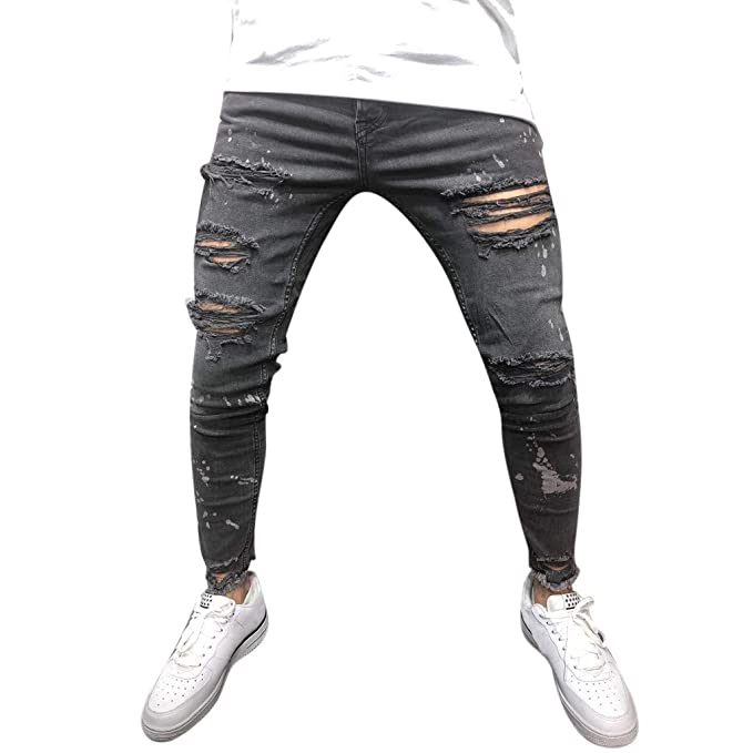 Amazon.com: Mens Skinny Jeans Slim Fit Stretch Spring ...