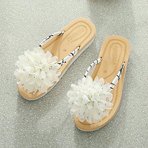 seven da da fondo freddo scarpe donna In scarpe piatto casual estate le spiaggia Thirty a fiori ciabatte HtqaOSqw