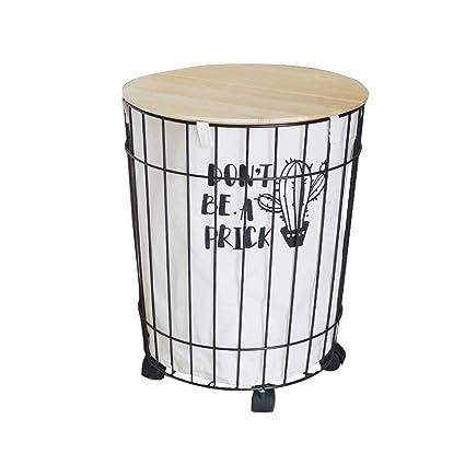 Jiulang Canasta de Almacenamiento de Ropa Sucia extraíble Cubo de lavandería de Dormitorio con Rueda
