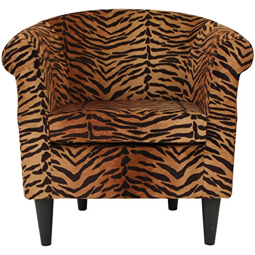 Parker Lane uch-nik-pon1 Safari Club Chair, Tiger Print (Leopard Chair)