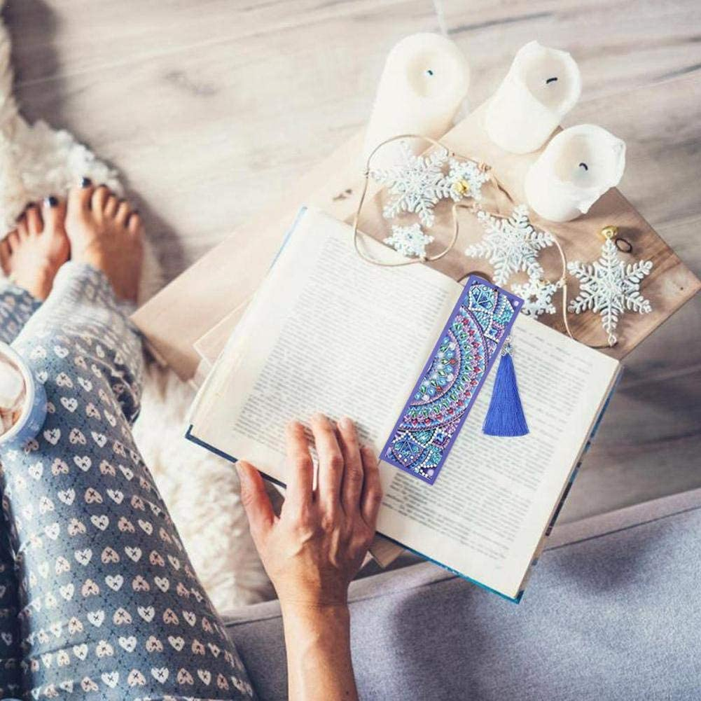Diamant Broderie Signets Faire Kit pour Les Femmes Filles Cadeau De No/ël danniversaire Dadahuam Bookmark Cr/éatif Marque-Pages Bricolage Diamond Paintings Marque-Pages en Cuir pour Livres