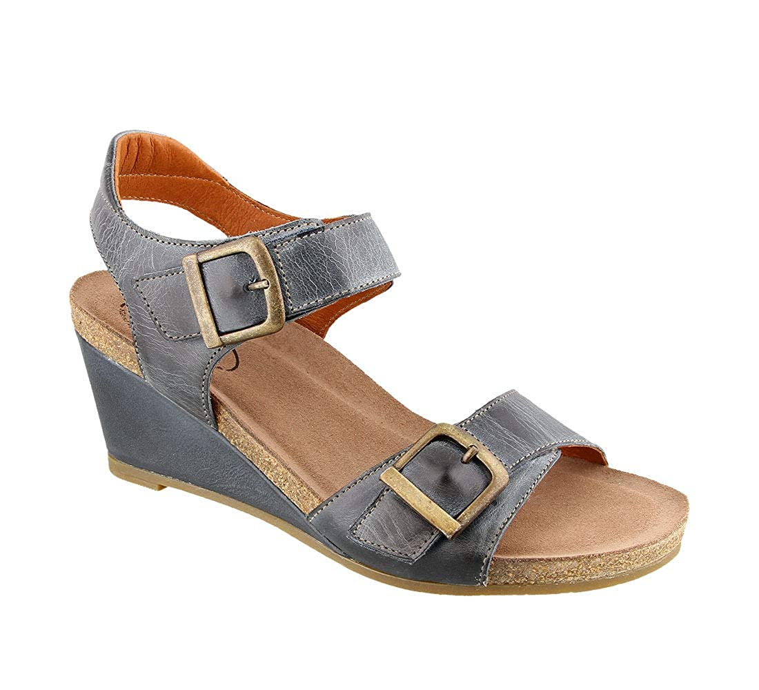 bluee Taos Footwear Women's Buckle Up Sandal