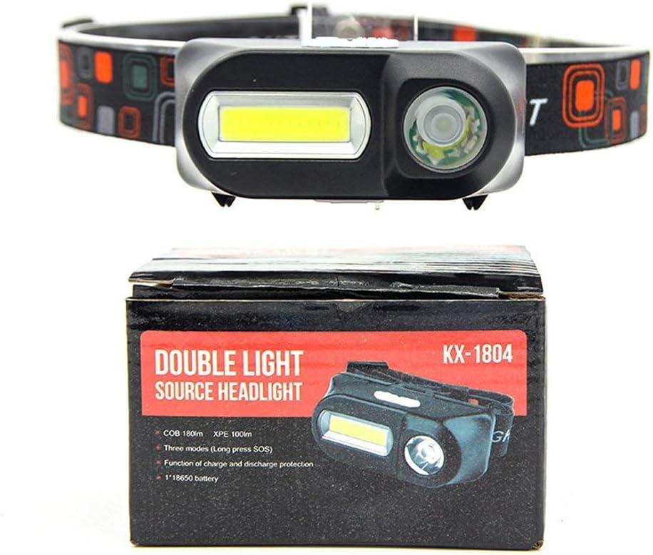 bater/ía 18650, multifunci/ón, luces de viaje nocturno, pr/ácticas luces de emergencia Linterna de emergencia para exteriores Cob