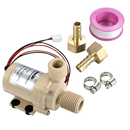 df62d857afd bayite BYT-7A006 DC 12V Solar Hot Water Heater Circulation Pump Low Noise  3M Discharge Head 2.1GPM - - Amazon.com
