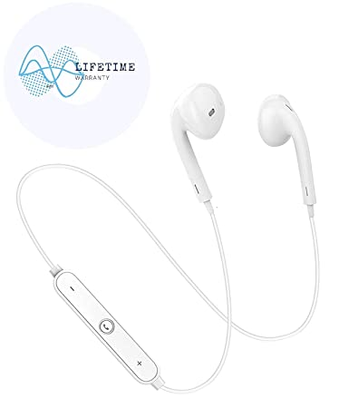 Auriculares Bluetooth Hide, Auriculares inalámbricos, Auriculares Bluetooth con micrófono para iPhone X/8/7/6, Galaxy S9/S8/S7/Google Pixel/Compatible con ...