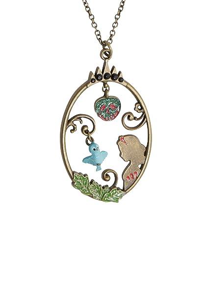 Amazon.com: Disney Snow White Story Frame Pendant with Blue Bird ...