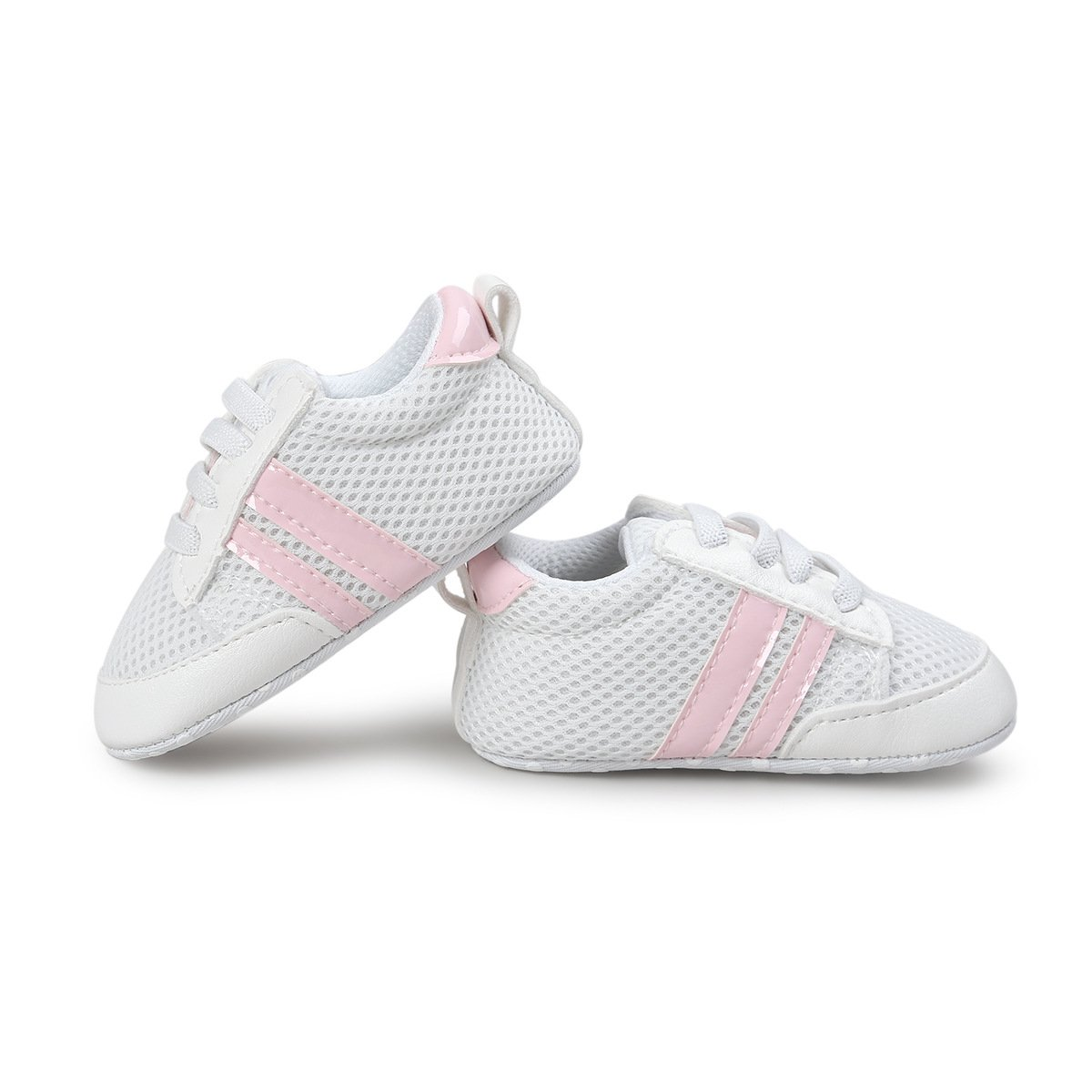 Save Beautiful Baby Shoes - Infant Boys Girls Summer Net Sneakers Crib Shoes (4.33inches(0-6months), style(A) pink)
