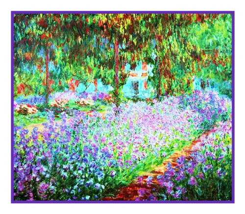 Orenco Originals The Artist's Garden in Giverny Monet Counted Cross Stitch Pattern