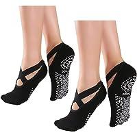 Alitopo Calcetines antideslizantes de yoga para mujer, calcetines antideslizantes de pilates para…