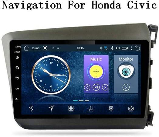 XBRMMM Radio Coche con Navegación GPS Android 8.1, TV Estéreo con Pantalla Táctil 1080P 9