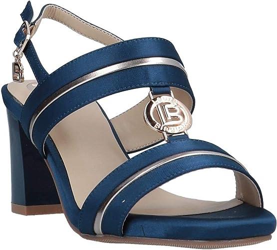 Laura Biagiotti Scarpe Donna Sandali Raso Blu 5518 NAVSAT