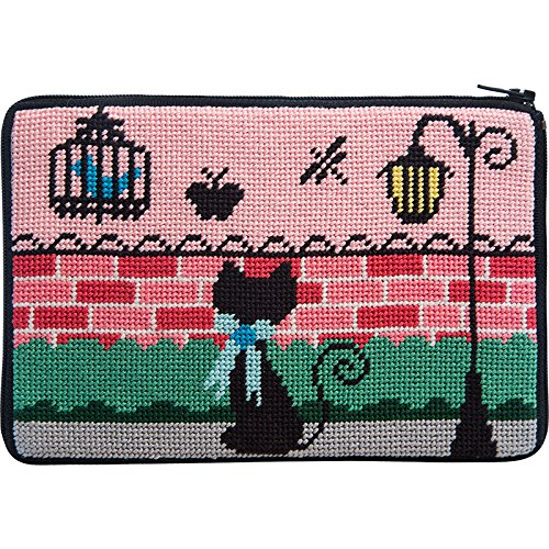 Stitch & Zip Needlepoint Purse Kit- Kitty Kat