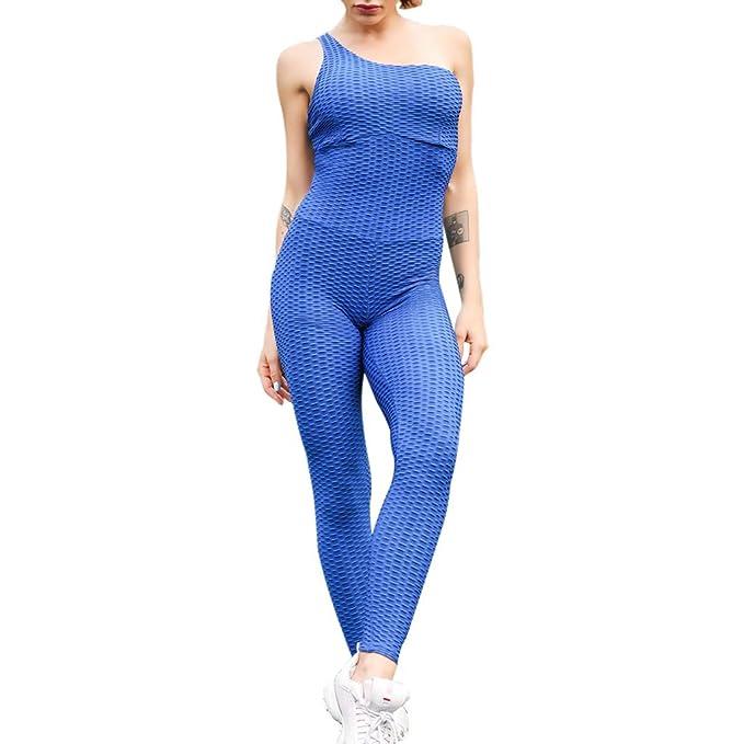 Mono Mujer Pantalones Una Pieza de Yoga Leggings, Moda Color ...
