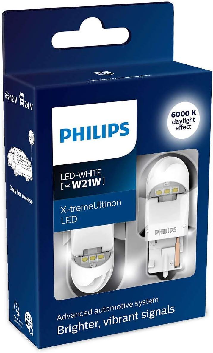 Philips 11065XUWX2 LED car signaling Bulb W21W White Set of 2
