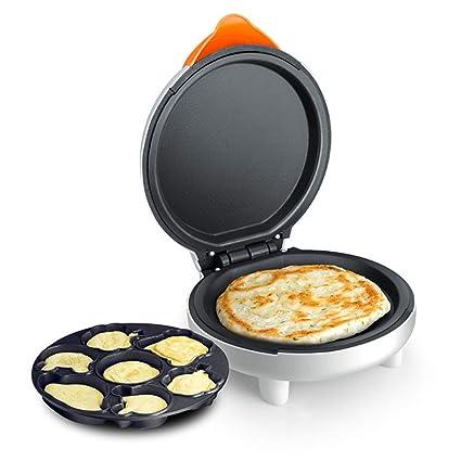 XCXDX 2 En 1 Molde para Hornear Eléctrico Pastel Pizza Fabricante De Dibujos Animados Sartén Multifunción