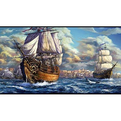 aoyuff Fantasy Sea CruisePuzzle 1000 Piece Jigsaw Puzzle for Adults Packaging Collection Every Piece is Unique,Pieces Fit Together Perfectly 75x50cm: Toys & Games