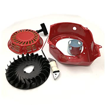 Shioshen Retroceso del volante de arranque ventilador bobina de carga para GX160 Honda GX200 6.5HP 5.5HP 2-3KW motor Motor generador: Amazon.es: Jardín